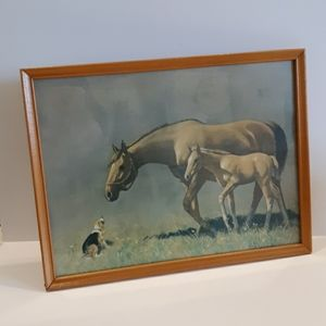 VTG 60's C.W. Anderson Equestrian Horse Lithograph